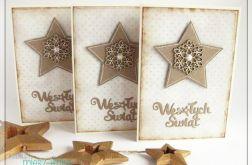 Kartka świąteczna śnieżynka i gwiazdka 1