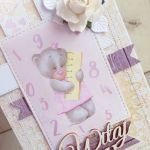 Kartka 3D na Narodziny Daddy's Princes GOTOWA -