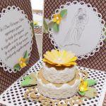 Box na ślub z tortem w ekologicznych kolorach - Box z tortem na prezent ślubny