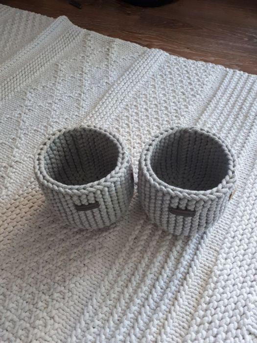 Koszyk ze sznurka osłonka na doniczkę -