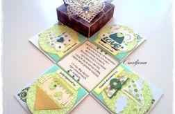 Urocza karteczka ślubna - z motylem