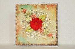 Okolicznościowa kartka z różyczkami @2