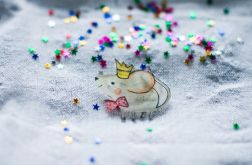 Broszka Królewna Myszka