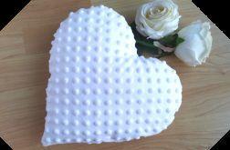 Walentynki poduszka biała serce prezent