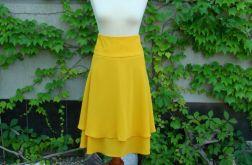spódnica żółta dwuwarstwowa