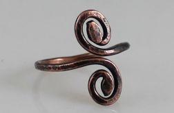Zawijas - miedziany pierścionek 190410-02