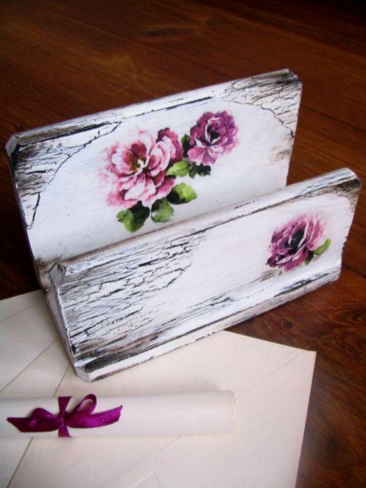 Romantyczny listownik z kwiatami