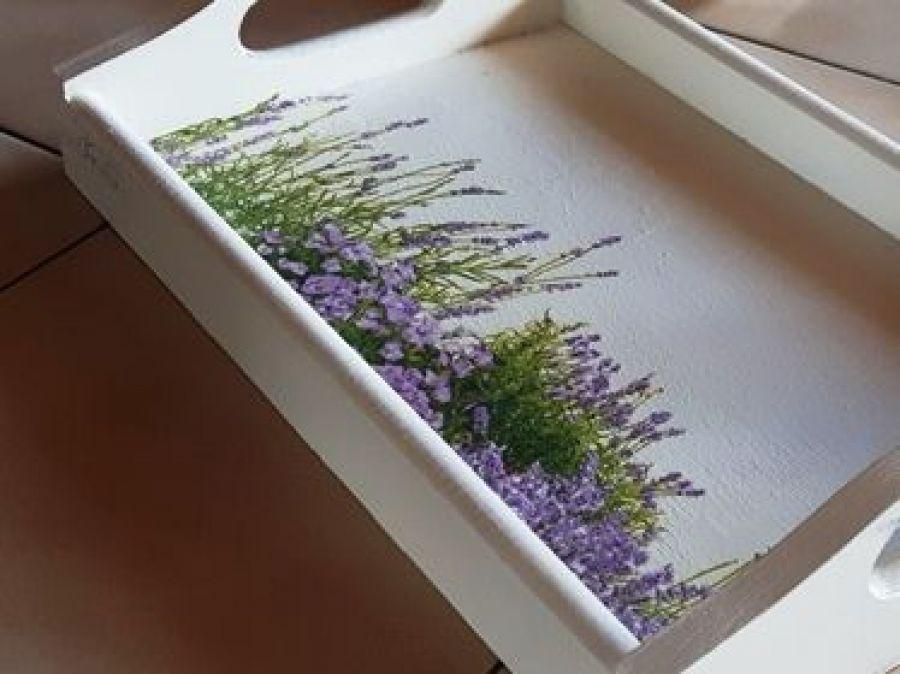 Tacka lawendowa łąka taca