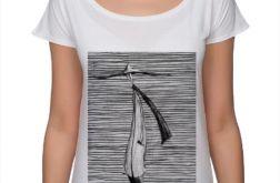 Kapelusz - koszulka oversize - biała