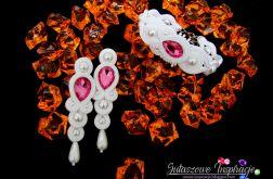 Różowa biżuteria ślubna sutasz