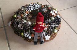 Skandynawski Wianek Boże Narodzenie, 32cm