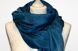 Obszerny jedwabny szal blue