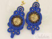 Krone - niebieski i złoto