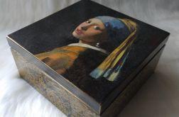 szkatułka z przegródkami z dziewczyną z perłą