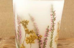 świece FLORA -z naturalnymi roślinami #7