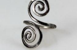 Zawijasy - srebrny pierścionek 2110-04
