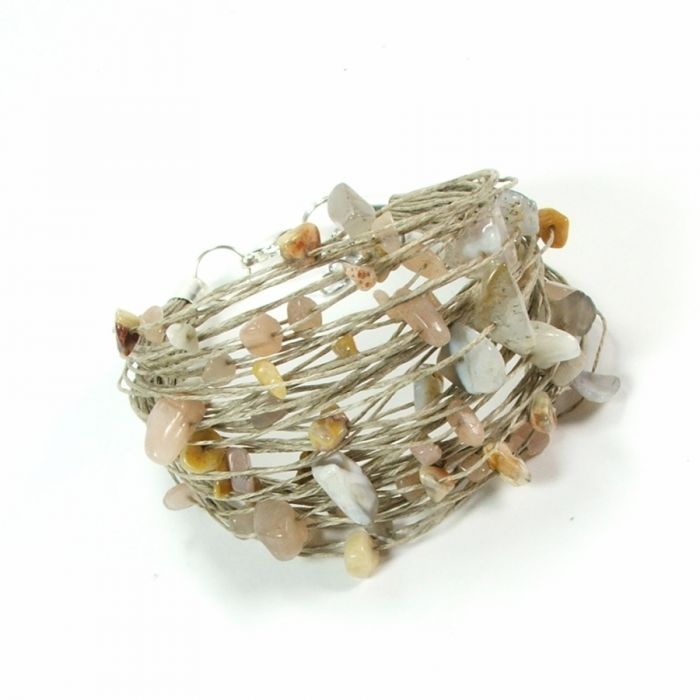 VJERA - komplet lniany z minerałami