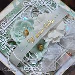 W dniu ślubu - miętowy vintage