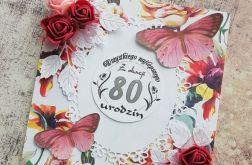 Kartka 80 urodziny + koperta