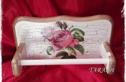 Wieszak na ręcznik papierowy - róża