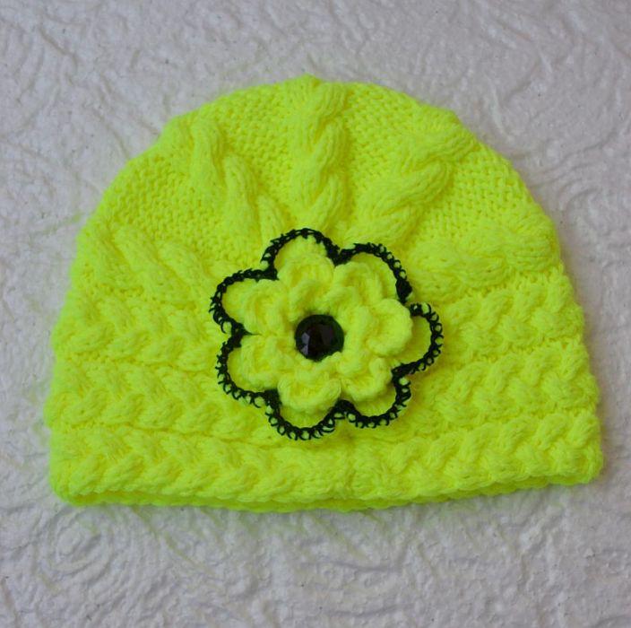 fluorescencyjny czapka typu poppy