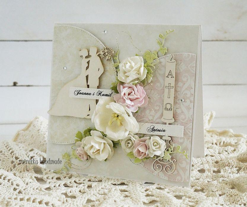 Kartka 2w1 - na Chrzest i Ślub -