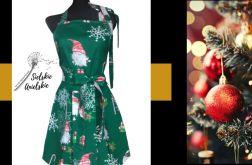 Fartuch kuchenny świąteczny zielony suki