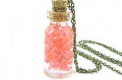 0914-mela/ wisiorek buteleczka z kwiatami