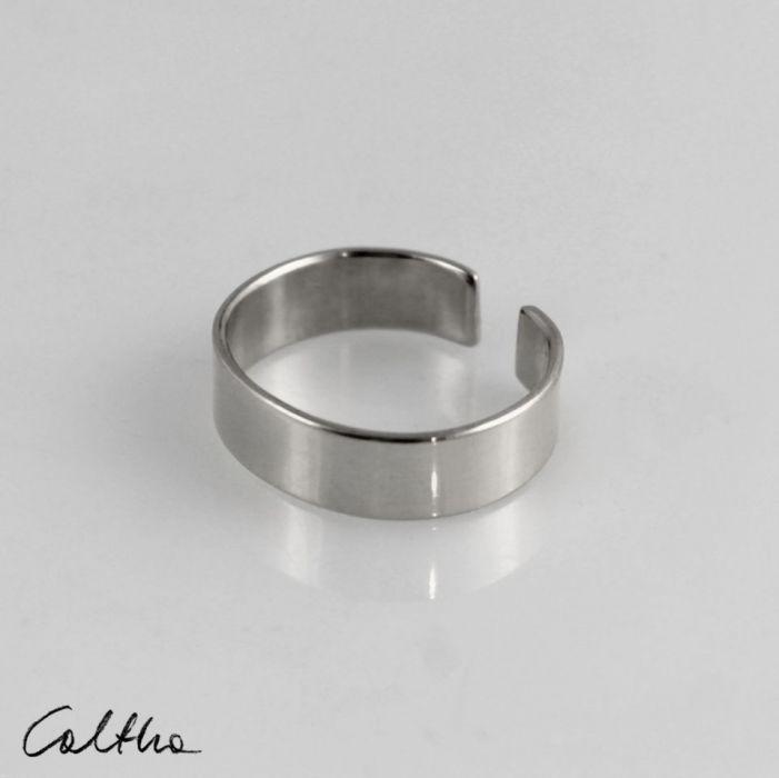 Gładka - srebrna obrączka 191028-03