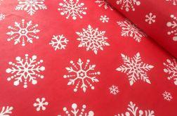 Tkanina bawełna- świąteczna śnieżynka