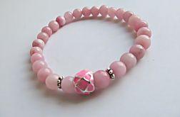 różowo - bransoletka