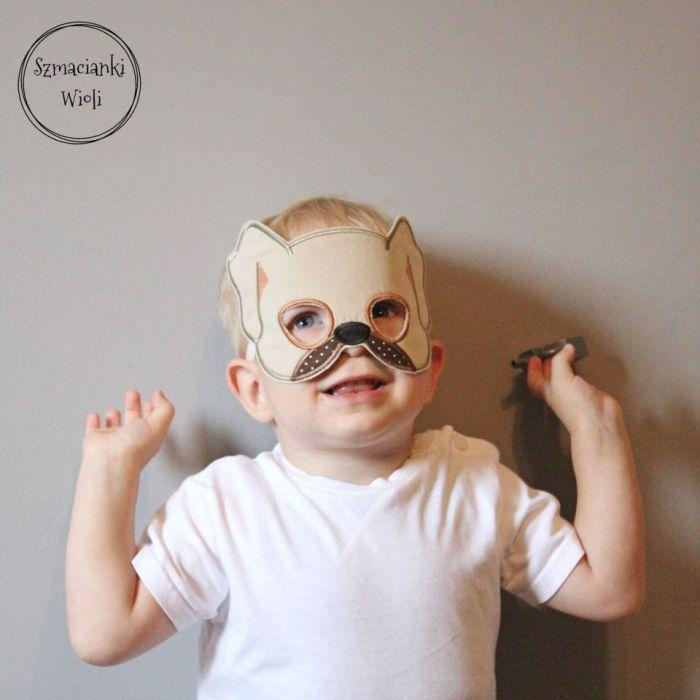 Maska dla dzieci i dorosłych - PIES/SZCZENIAK - Maska pies/szczeniaczek 3