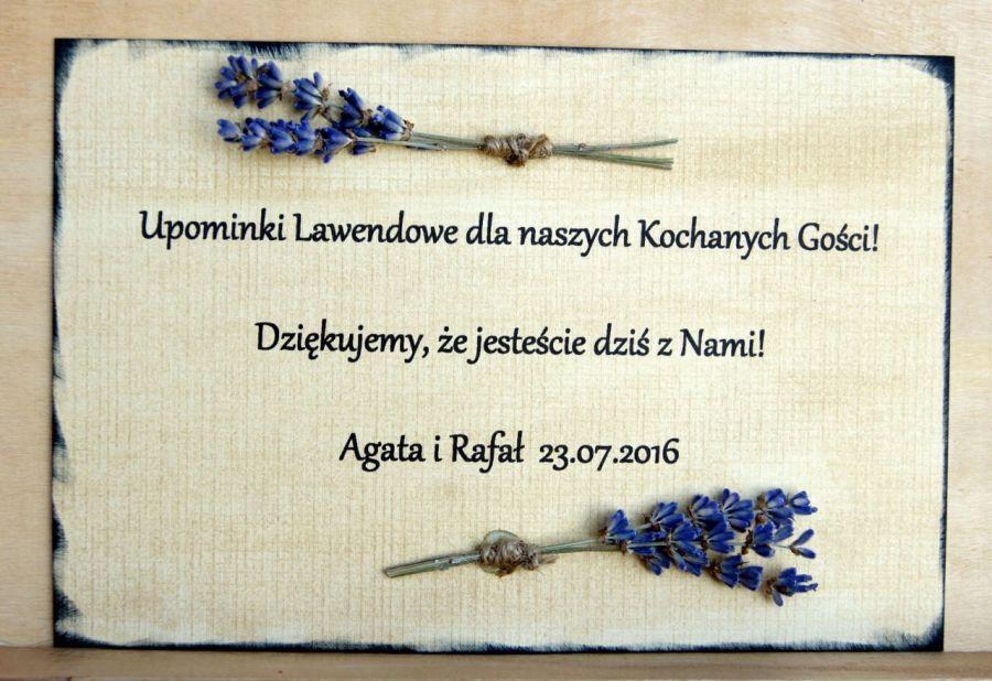 10 x prezenty dla gości Mydło lawenda