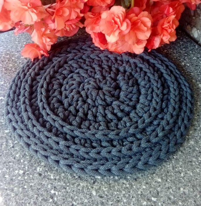 Podkładka 31 cm, szara - podkładka z bawełny