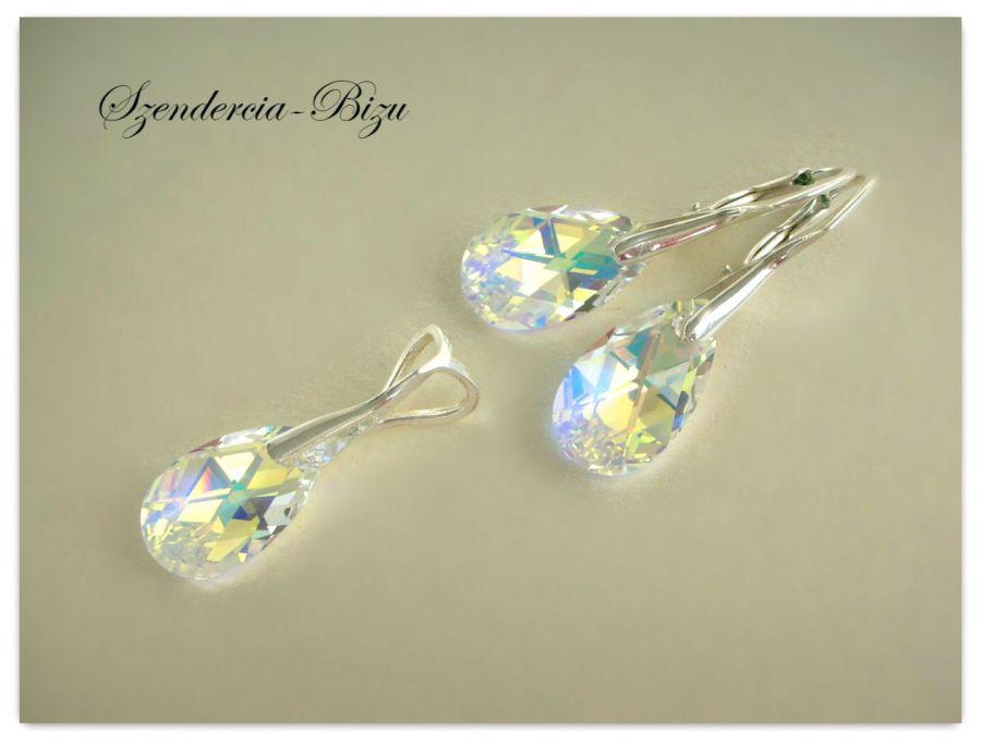 Komplet Swarovski Pear Shaped Crystal AB