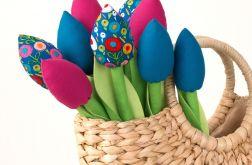 TULIPANY, bawełniany kolorowy bukiet