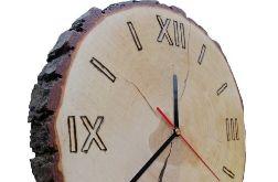 Zegar plaster drewna ręcznie robiony NA PREZENT