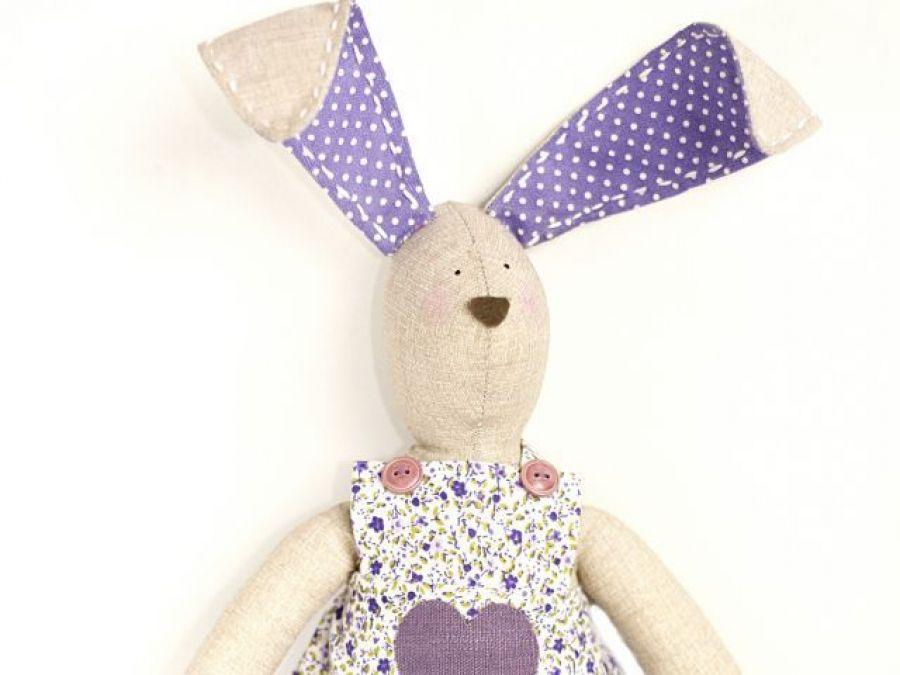 Tildowy króliczek w fioletach