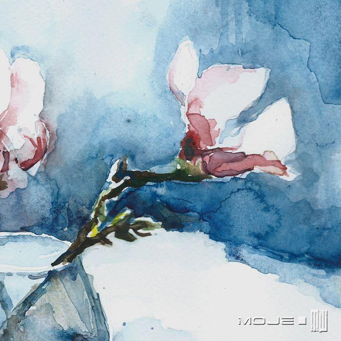 Wiosenne kwiaty w wazonie - na ścianę