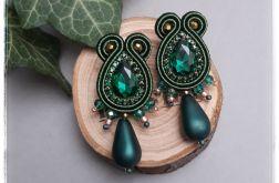 Kolczyki sutasz Elegance by dudqa zielone