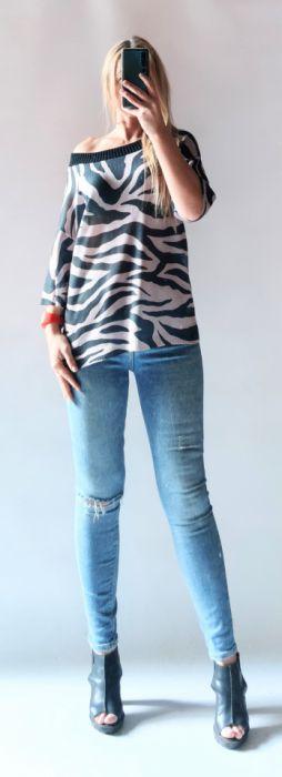 Sweter oversize zebra
