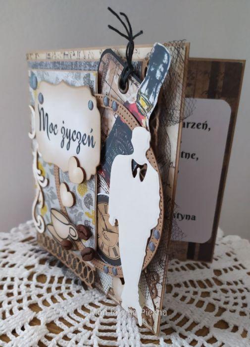 Kartka urodzinowa męska pachnąca kawą - Kartka męska 1