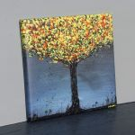 Obraz żÓŁTODRZEW, wydruk na płótnie 30x30cm - Reprodukcja obrazu akrylowego
