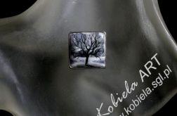 pierścionek w srebrze-ręcznie malowany