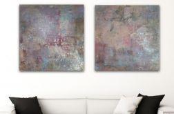 Obraz x2 ręcznie malowany płótnie 50x50
