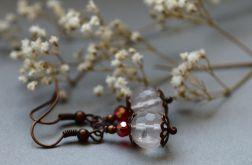 Zofia - kolczyki z kwarcem różanym