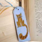 Zakładki malowane - Koty w błękicie 1