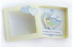 Kartka w pudełku na Chrzest dla chłopca