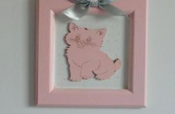 Obrazek do pokoju dziecięcego - kotek