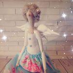 Anioł Tilda pastelowy